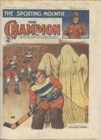 Champion 793 - Hockey Sticks - Goal Post - Frightened - Ghost - Ball