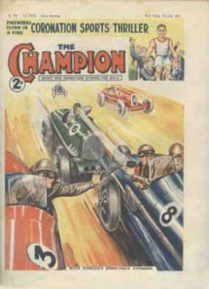 Champion 799 - Sports Thriller - Race Cars - Speedway - Green Car - Red Car