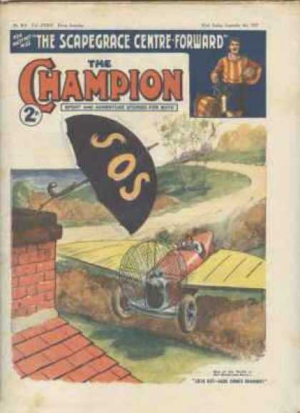 Champion 814 - Sos - Rugby - The Scapegrace Centre-forward - Flying Machine - Umbrella