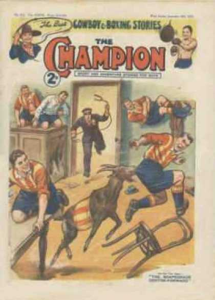 Champion 817 - One Animal - Some One Trying To Catch The Animal - In A Room - Chair Is Falling Down - Escaping