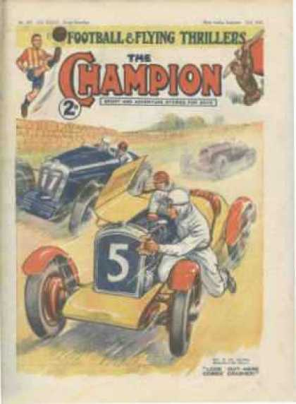 Champion 818 - Classic Comics - Race Car - Classic Cars - Number 5 - Old Time Comics
