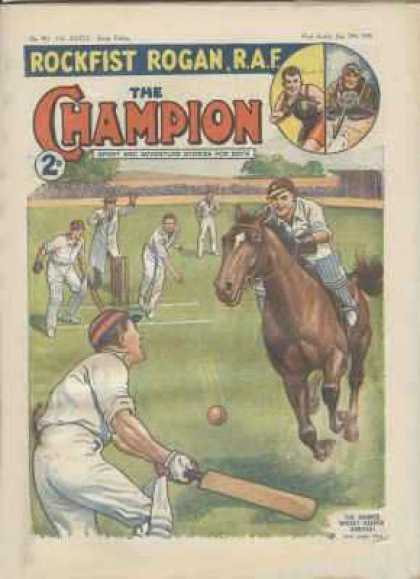 Champion 913 - Cricket Pitch - Wickets - Galloping Horse - Umpire - Cricket Ball