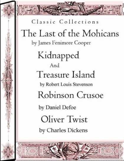 Charles Dickens Books - Classic Collections: The Last of the Mohicans,Kidnapped,Treasure Island,Robinsin