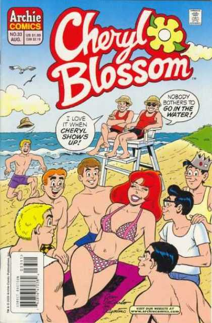 Cheryl Blossom 33 - Beach - Ocean - Bathing Suits - Birds - Sunglasses