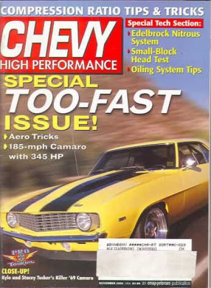 Chevy High Performance - November 2000
