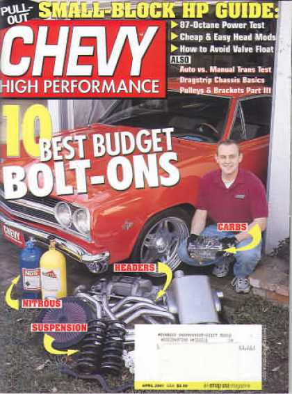 Chevy High Performance - April 2001