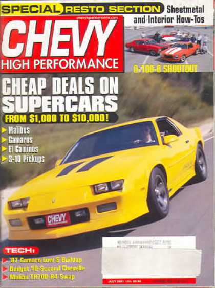 Chevy High Performance - July 2001