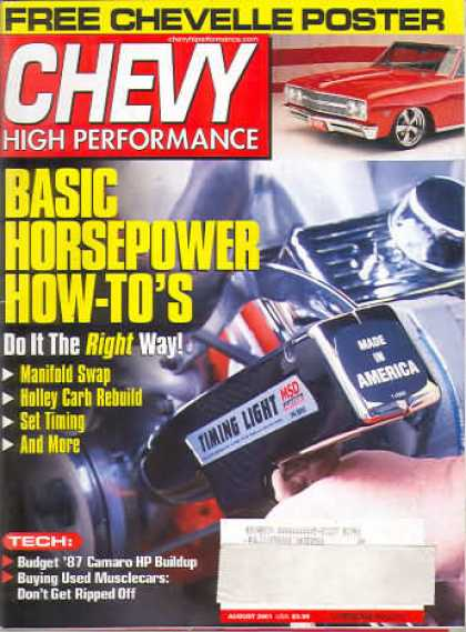 Chevy High Performance - August 2001