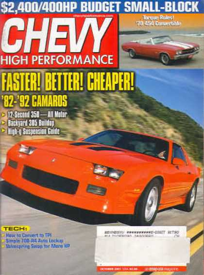 Chevy High Performance - October 2001