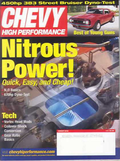 Chevy High Performance - August 2002