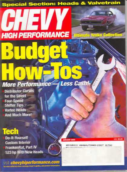 Chevy High Performance - January 2003