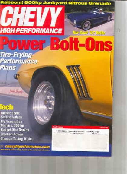 Chevy High Performance - March 2003