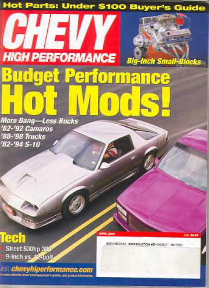 Chevy High Performance - April 2003