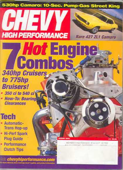 Chevy High Performance - August 2003