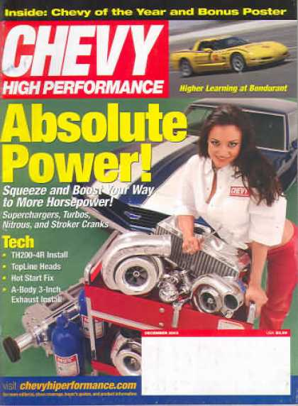Chevy High Performance - December 2003
