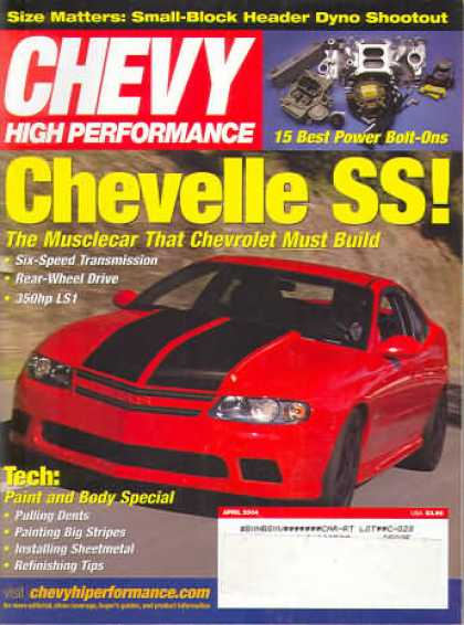 Chevy High Performance - April 2004