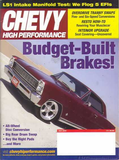 Chevy High Performance - July 2004
