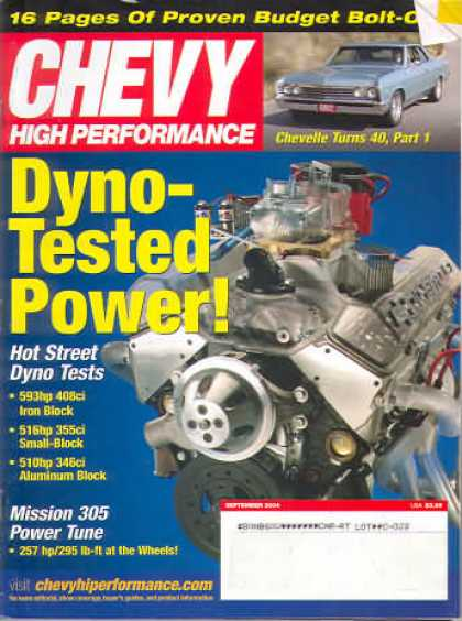 Chevy High Performance - September 2004