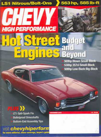 Chevy High Performance - November 2004