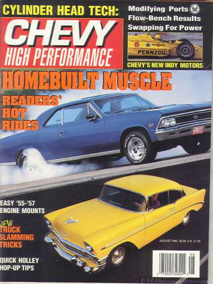 Chevy High Performance - August 1992