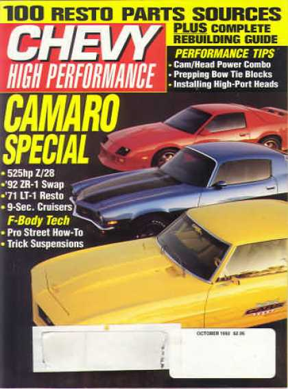 Chevy High Performance - October 1992