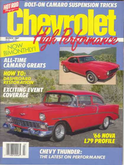 Chevy High Performance - March 1987