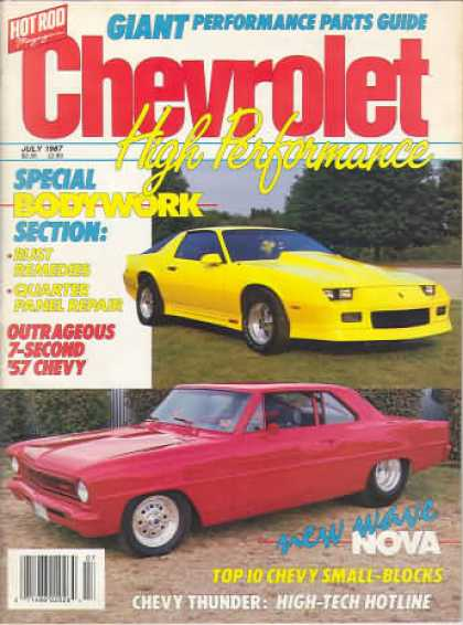 Chevy High Performance - July 1987