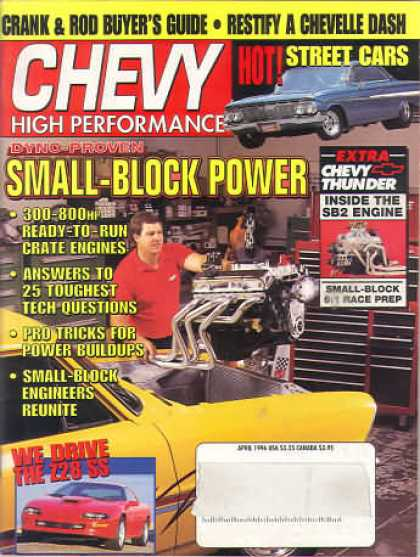 Chevy High Performance - April 1996
