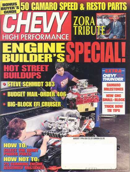 Chevy High Performance - August 1996