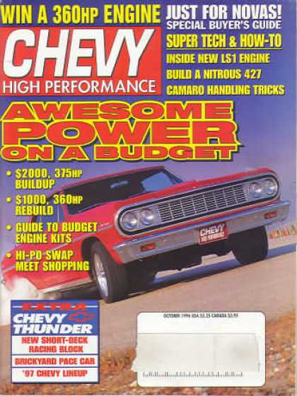 Chevy High Performance - October 1996