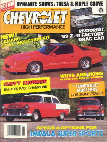 Chevy High Performance - February 1989