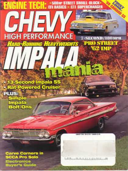 Chevy High Performance - January 1998