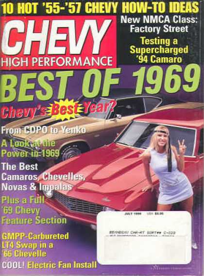 Chevy High Performance - July 1999