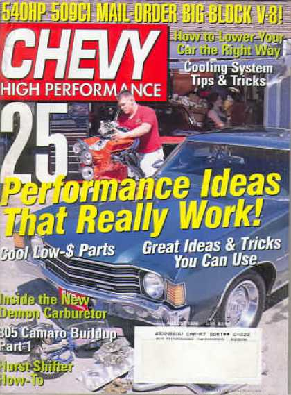 Chevy High Performance - August 1999