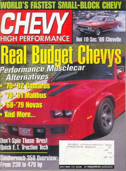 Chevy High Performance - July 2000