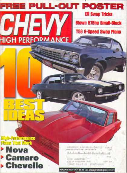 Chevy High Performance - August 2000