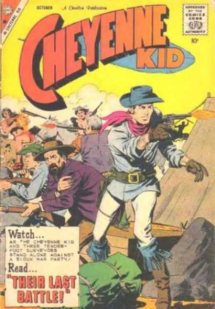 Cheyenne Kid 19 - Comics Code Authority - Gun - Weapon - 10 Cents - October