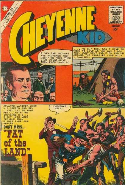 Cheyenne Kid 26 - January - Speech Bubble - Indians - Cowboy - Fat Of The Land