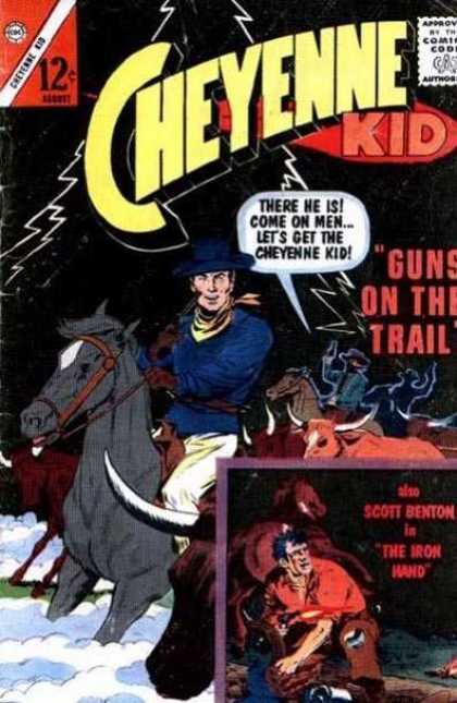 Cheyenne Kid 41 - Kid - Comics - Horses - Bull - Men