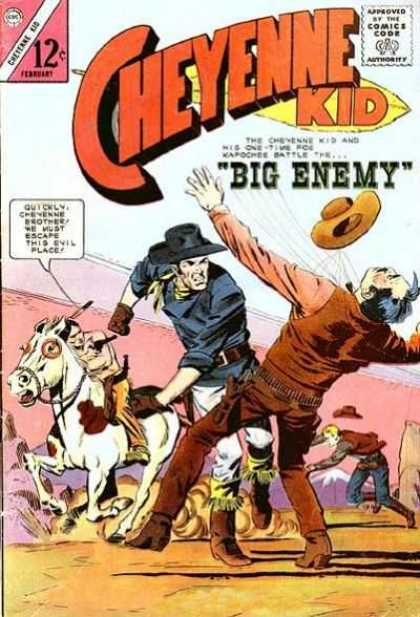 Cheyenne Kid 49 - Big Enemy - Cowboy - Horse - Hat - Western