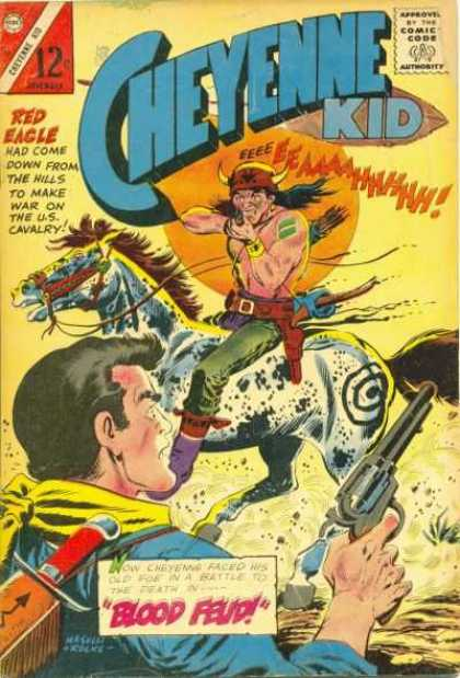 Cheyenne Kid 53 - The Return Of The Villager - The Man Eater - The Man On Flying Horse Wid A Gun - The Crazy Man - The Game Of Chasing