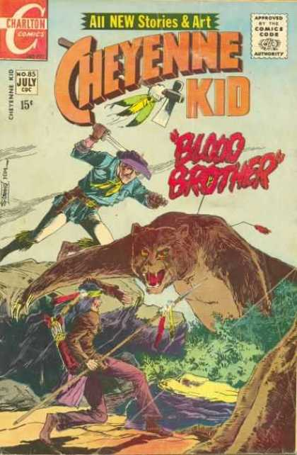 Cheyenne Kid 85 - Charlton Comics - Approved By The Comics Code - All New Stories U0026 Art - Blood Brother - Bear