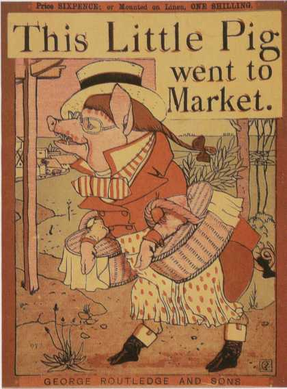 Children's Books - This Little Pig Went to Market (1870s)