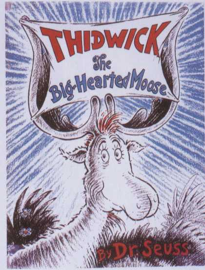 Children's Books - Thidwick the Big-Hearted Moose (1940s)