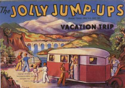 Children's Books - The Jolly Jump-Ups: Vacation Trip (1940s)