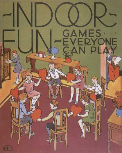 Children's Books - Indoor Fun Games Everyone Can Play (1930s)