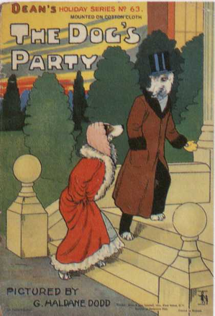 Children's Books - The Dog's Party (1890s)