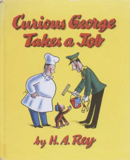 Children's Books - Curious George Takes a Job (1940s)