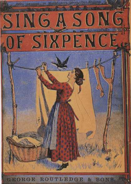 Children's Books - Sing a Song of Sixpence (1860s)