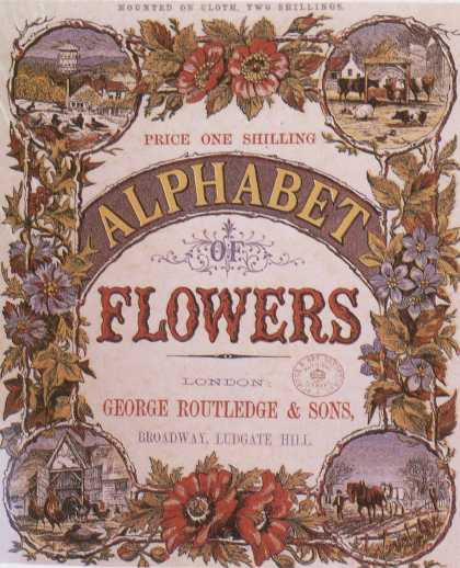 Children's Books - Alphabet Flowers (1870s)